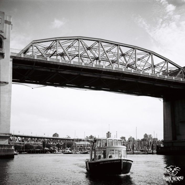 35mm - 120mm film - burrard street bridge - burrard inlet - vancouver