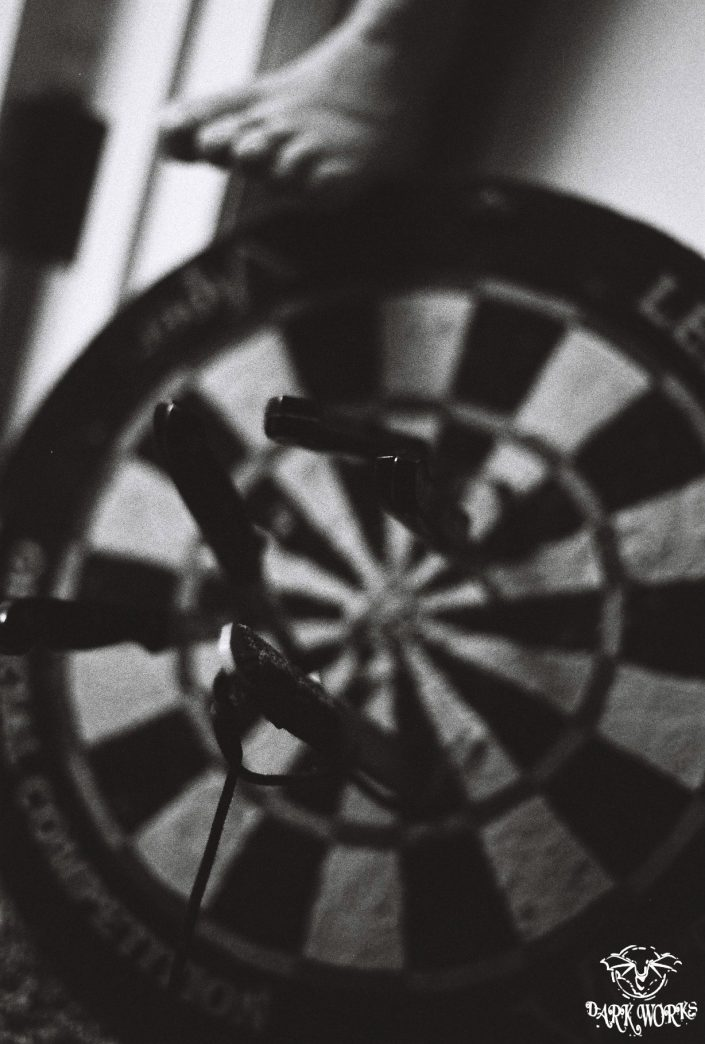 35mm - 120mm dart board film photography