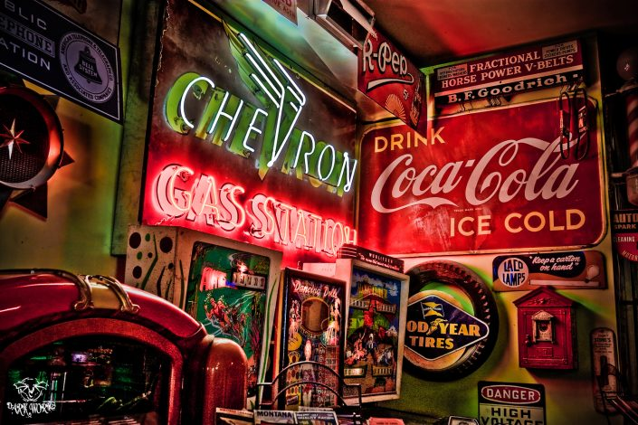 parkers garage Chilliwack Neon coke coca cola