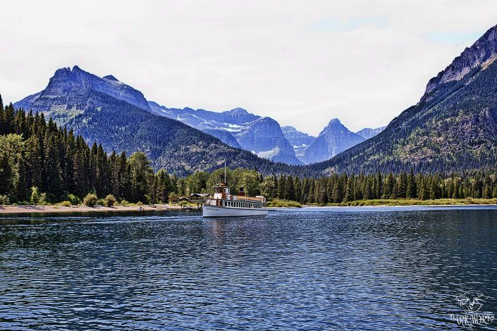 Waterton National Park Alberta Landscape Boat Photograph