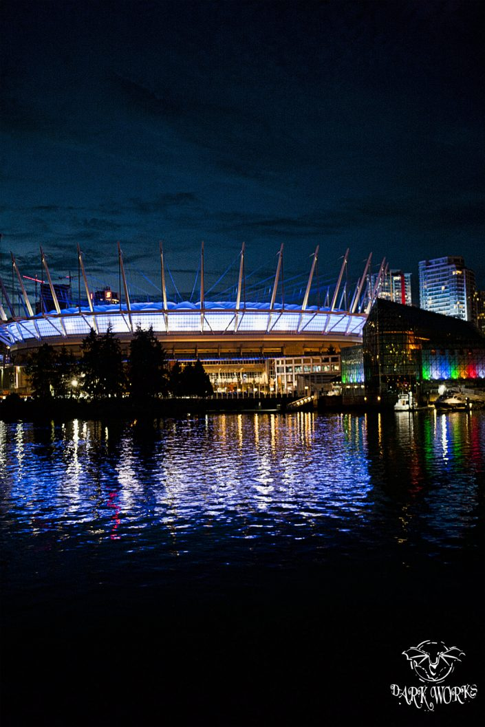 BC Place stadium - Vancouver - BC - British Columbia - ocean - lights