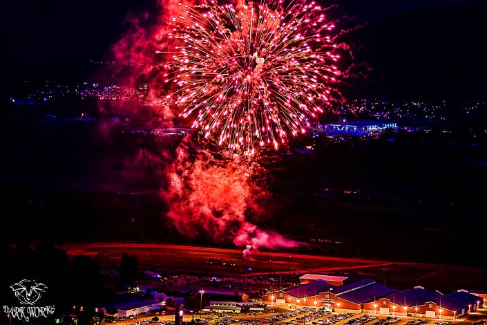 fireworks - red barn - chilliwack - fire - red - fraser valley - bc - photography