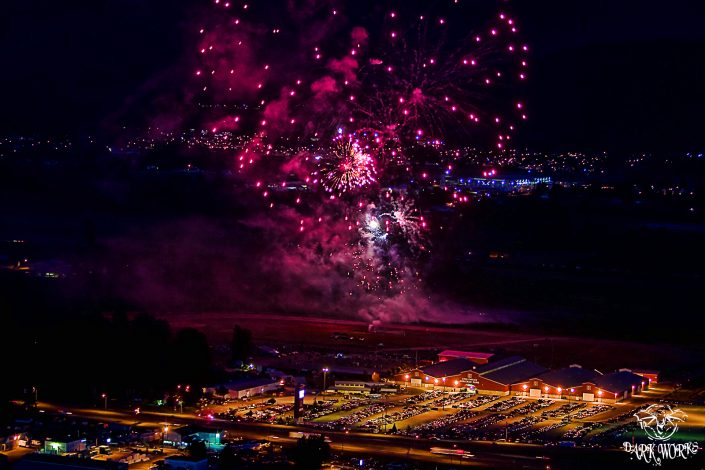 fireworks - chilliwack - red barn - fire - red - fraser valley - bc - photography