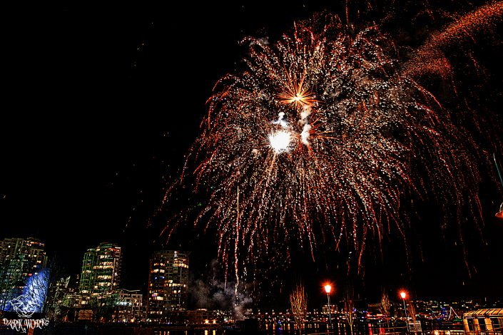 fireworks - vancouver - english bay - fire - red - fraser valley - bc - photography
