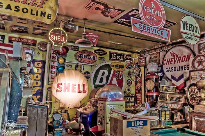 artwork - signs- lights - parkers garage = chilliwack - fraser valley - photograph